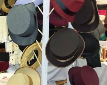 Custom Hat, Top Hat, Bowler, Fedora, Aviator's Helmet