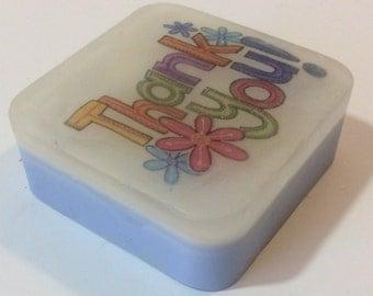 Handmade organic bar soap, happy birthday design, birthday bar soap gift