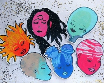Galaxy Girls sticker set
