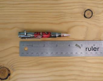 Red and Black Mini 30 Caliber Bolt Action Chrome