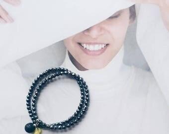 Double Hematite Diffuser Bracelet