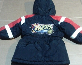 Philadelphia 76ers Winter Jacket - Youth Toddler Size 2T