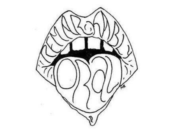 Remarkably Oral - Black and White Art Sticker