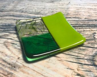 Small green dish