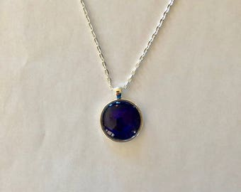 Purple Orb Necklace