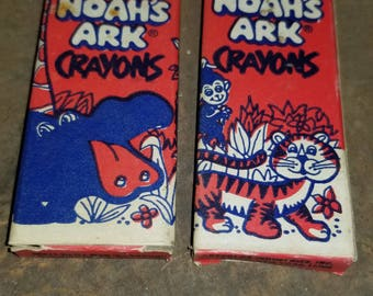 Vintage Noah's Ark Crayons