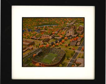 Notre Dame Painting, Fighting Irish, Notre Dame Football Stadium, Notre Dame Band, Campus, Wall Art, Notre Dame gift, Football Saturday