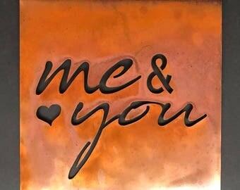 """Me & You - 12""""x12"""" Metal Wall Art"""