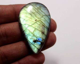 69.25Cts Natural Multi Flash Labradorite Pear 46X29X6  mm Labradorite Loose Gemstone Amazing & Beautifull Labradorite Nice Flash AA-90