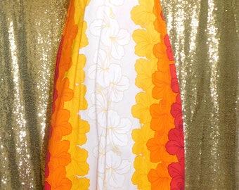 1960s Small Vintage Ui-MaiKai Hawaiian maxi dress
