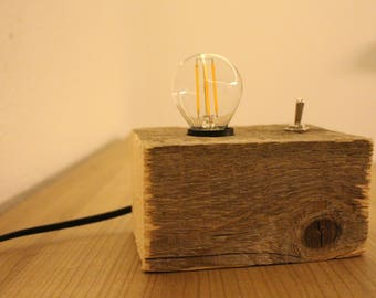 Led etsy for Led holzlampe