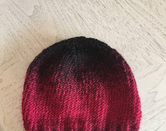 Black and Red Knit Hat