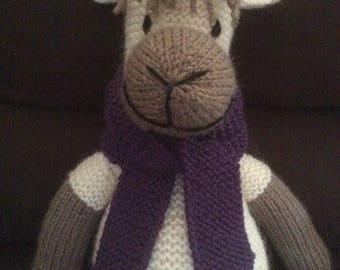 Hand Knitted Alpaca with Scarf