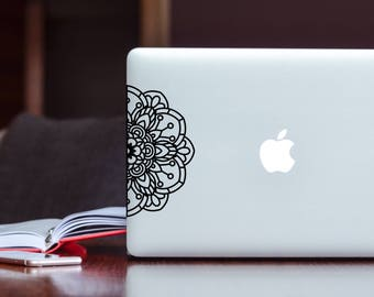 Custom Mandala Decal- Mandala Laptop Decal- Laptop Decal- Laptop Art - Car Decal- Mandala Car Decal