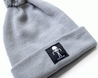 Alien Carp Grey Bobble Hat - Fishing Clothing Headwear