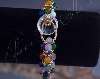 Faceted MultiGemstone Bracelet