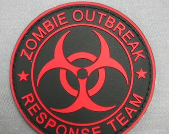 Zombie outbreak response team velcro rubber patch