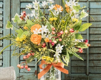 Country Mixed Wildflower Arrangement