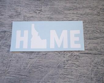 Idaho Vinyl Decal - Idaho is Home