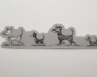 Illustrated Dog Sticker