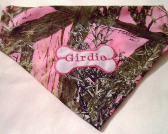 Monogram, Dog bandana, Camo,  Personalized, dog Gift,  Over the Collar, True Timber, Pet gift,  Hunting, bandana, dog lover gift, dog gift
