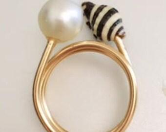 Twisted Pearl/SeaShell Rings