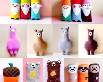 Wholesale Stuffed Animals, Stocking Fillers, Christmas Gifts, Party Favors, Alpaca Plush, Bear Plush, Sloth Plush, Cloud Plushie - 6 PCS