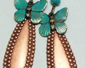 When Wings Touch Sky -- earrings