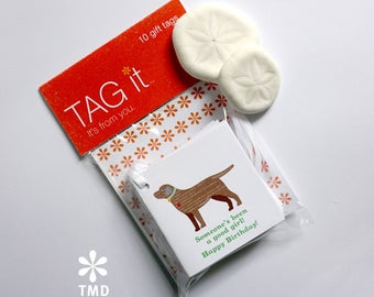 Chocolate Labrador Gift Tags