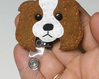 Cavalier King Charles Spaniel Badge Reel, Spaniel Badge Card Holder,Nurse Badge Reel, Dog,ID Holder,Dog,Nursing Badge Holder,Badge Reel