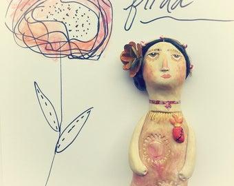 Frida Original Clay Wall Art