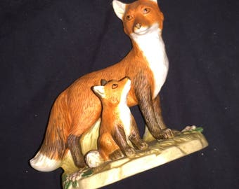 Vintage Homco Red Fox Figurine