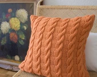 Strikk Hand Knit Chunky Plaited Cable Cushion