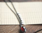 A Little Perspective Necklace - Garnet #4