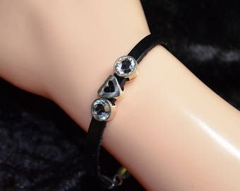 Leather slider bracelet