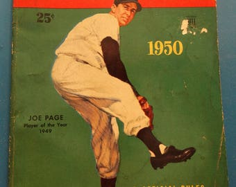 1950 Major League Baseball Book, Facts Figures & Official Rules, 1950's Records, Pitching, Home Runs, Slugging, Baseball Collectible