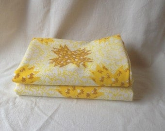Vintage Pillow Cases Mustard Yellow Patchwork Pillowcases Groovy Retro Bedroom