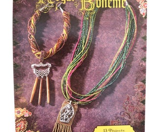 "Beading Book Jewelry Pattern Book Blue Moon Beads® ""Royal Boheme"" Beading Instruction Book 13 Projects 8x5.5 in. - 1 pc. - 0003-S - New"