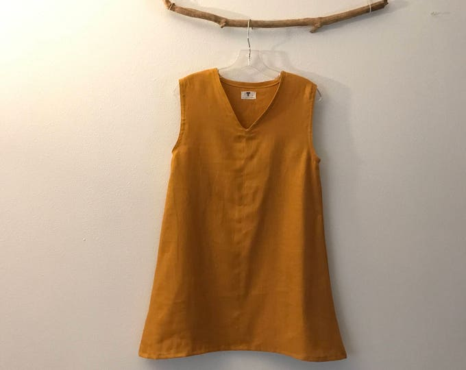 size XS or S autumn gold linen top ready to wear