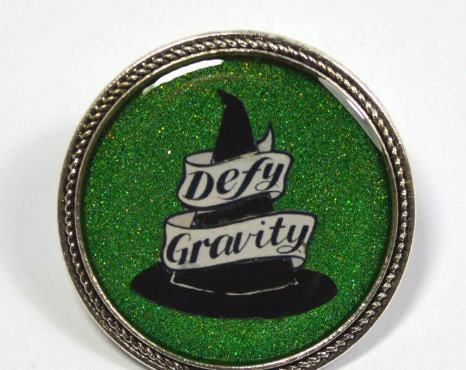 Defy Gravity Wicked Witch Resin Brooch