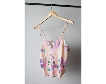 Vintage Victoria Secret Sheer Floral Camisole Top