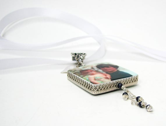 Wedding Memorial Photo Charm for Your Bouquet