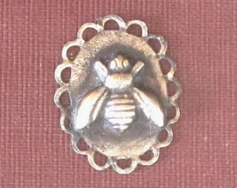 Bee Charm - Soldered Art charm - Antique Copper - Steampunk