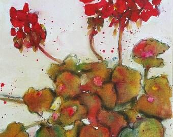 Spring Geranium, 8 x 10 print