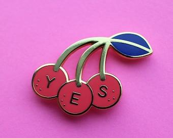 Y-E-S Cherry Pin