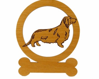 Dachshund Longhair Ornament 083038 Personalized With Your Dog's Name