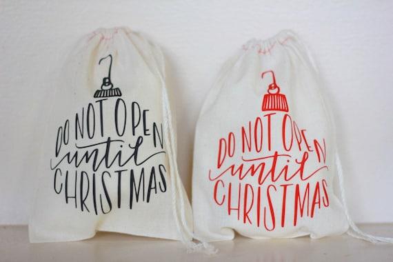 Stocking Stuffer Holiday Party Favor Christmas Drawstring Bag Ornament Tree Goody Bag Treat Bag Gift Basket bag