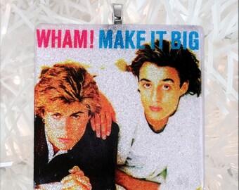 Wham! Make It Big Album Cover Glass Ornament