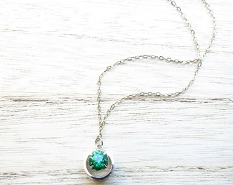 """Vintage Sterling Silver Necklace 