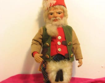 Fairie People Gnome Doll by Irene Rama Graham, Super Macgregor Gnome, Vintage 1979 Scottish Fairy